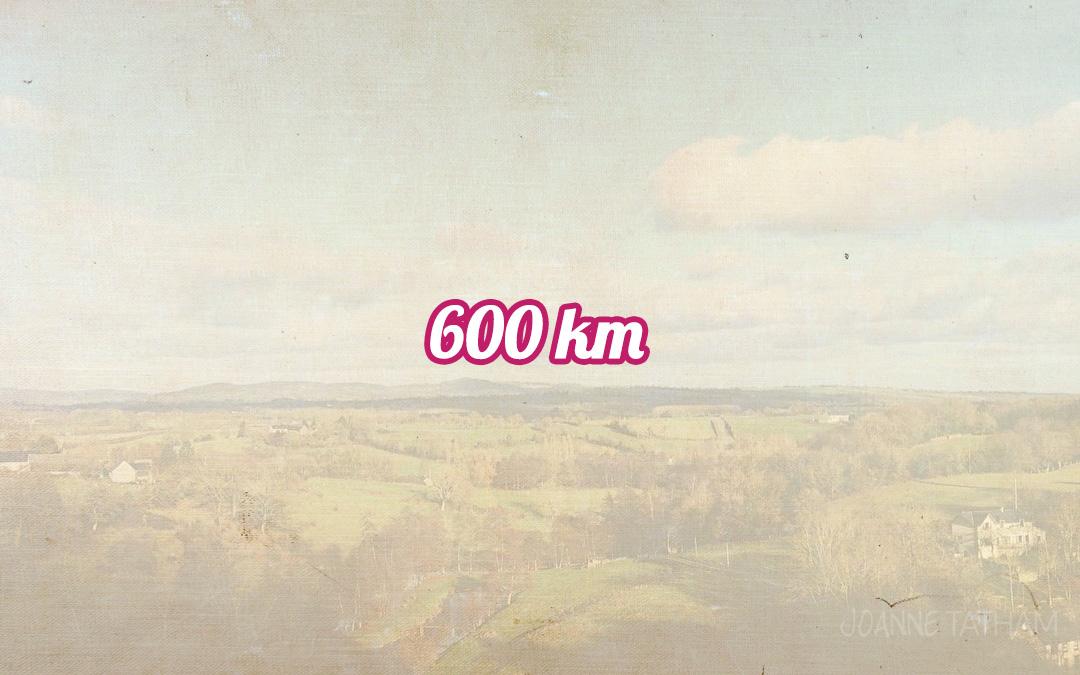 600km
