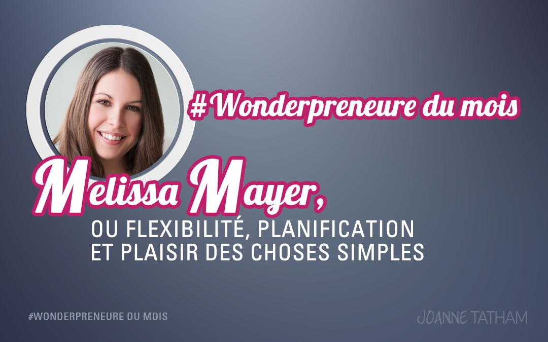 Wonderpreneure du mois : Melissa Mayer